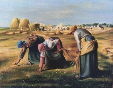 """Las espigadoras"" de Jean-François Millet. 1857"